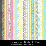 Birds Go Tweet Paper Pack-$2.49 (Lindsay Jane)