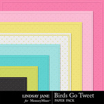 Birds Go Tweet Embossed  Paper Pack-$1.99 (Lindsay Jane)