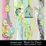 Birds Go Tweet Border Pack-$1.99 (Lindsay Jane)