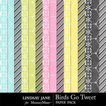 Birds Go Tweet Extra Paper Pack-$1.99 (Lindsay Jane)