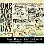 One Kind Word WordArt Pack-$3.99 (Fayette Designs)