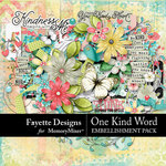 One Kind Word Embellishment Pack-$4.99 (Fayette Designs)