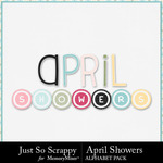 April Showers JSS Alphabet Pack-$3.99 (Just So Scrappy)