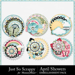 April Showers JSS Cluster Seals Pack-$1.40 (Just So Scrappy)