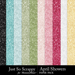 April showers glitter papers medium