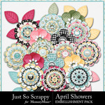 April Showers JSS Layered Flowers-$1.40 (Just So Scrappy)