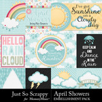 April Showers JSS Pocket Cards-$1.99 (Just So Scrappy)