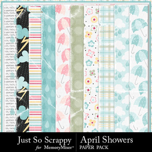 April showers worn and torn papers medium