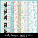 April Showers JSS Worn Papers-$1.40 (Just So Scrappy)