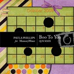 Boo To You QuickMix-$4.00 (Paula Phillips)