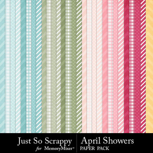 April showers pattern papers medium