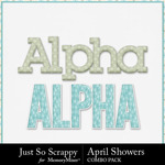 April showers kit alphas small