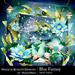 Blue Fantasy Mini Pack-$2.99 (MagicalReality Designs)