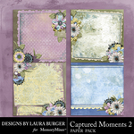 Captured Moments 2 Stacked Paper Pack-$4.99 (Laura Burger)