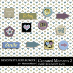 Captured Moments 2 Flairs Pack-$3.99 (Laura Burger)