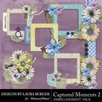 Captured Moments 2 Clusters Frames Pack-$4.99 (Laura Burger)