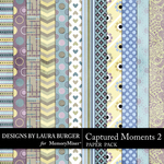 Captured Moments 2 Patterned Paper Pack-$4.99 (Laura Burger)