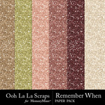 Remember When Glitter Paper Pack-$1.99 (Ooh La La Scraps)