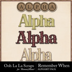 Remember When Alphabet Pack-$3.49 (Ooh La La Scraps)