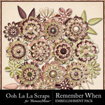 Remember When Layered Flowers-$1.99 (Ooh La La Scraps)