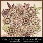 Remember When Layered Flowers-$1.99 (Ooh La La Scraps)