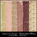 Remember When Worn Paper Pack-$1.99 (Ooh La La Scraps)