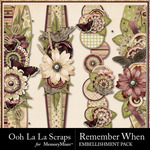 Remember When Border Pack-$1.99 (Ooh La La Scraps)