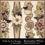 Remember When Border Pack-$1.99 (Ooh La La Scraps)
