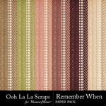 Remember When Pattern Paper Pack-$1.99 (Ooh La La Scraps)
