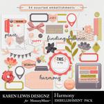 Harmony Embellishment Pack-$2.99 (Karen Lewis)