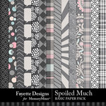 Spoiled Much Basic Paper Pack-$3.99 (Fayette Designs)