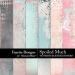 Spoiled Much Hotmess Blended Papers-$3.99 (Fayette Designs)