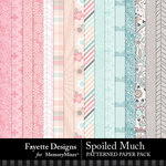 Spoiled Much Patterned Paper Pack-$4.99 (Fayette Designs)