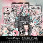 Spoiled Much Embellishment Pack-$4.99 (Fayette Designs)