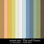 Play and Games Pattern Paper Pack-$1.99 (Lindsay Jane)