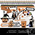 Pumpkin Night Embellishment Pack-$2.99 (Julie Klaus)