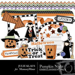 Pumpkin Night Embellishment Pack-$3.00 (Julie Klaus)