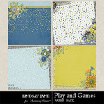 Play and Games Deco Paper Pack-$2.99 (Lindsay Jane)