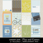 Play and Games Journal Cards Pack-$1.99 (Lindsay Jane)