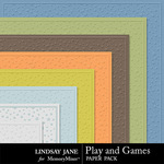 Play and Games Embossed Paper Pack-$1.99 (Lindsay Jane)