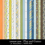 Play and Games Paper Pack-$2.49 (Lindsay Jane)