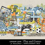 Play and Games Embellishment Pack-$3.49 (Lindsay Jane)