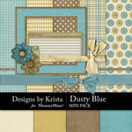 Dusty Blue Mini Pack-$3.99 (Designs by Krista)