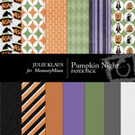 Pumpkin Night Paper Pack-$3.49 (Julie Klaus)