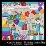 Birthday Wishes CPS Boy Combo Pack-$4.99 (CutiePie Scraps)