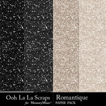 Romantque glitter papers small