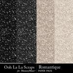 Romantique Glitter Paper Pack-$1.99 (Ooh La La Scraps)