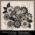 Romantique Layered Flowers Packs-$1.99 (Ooh La La Scraps)