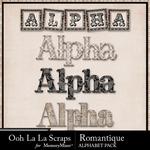 Romantique Alphabet Pack-$3.49 (Ooh La La Scraps)