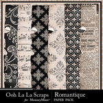 Romantque worn and torn papers small